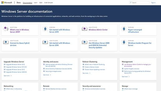 Windows Server documentation.