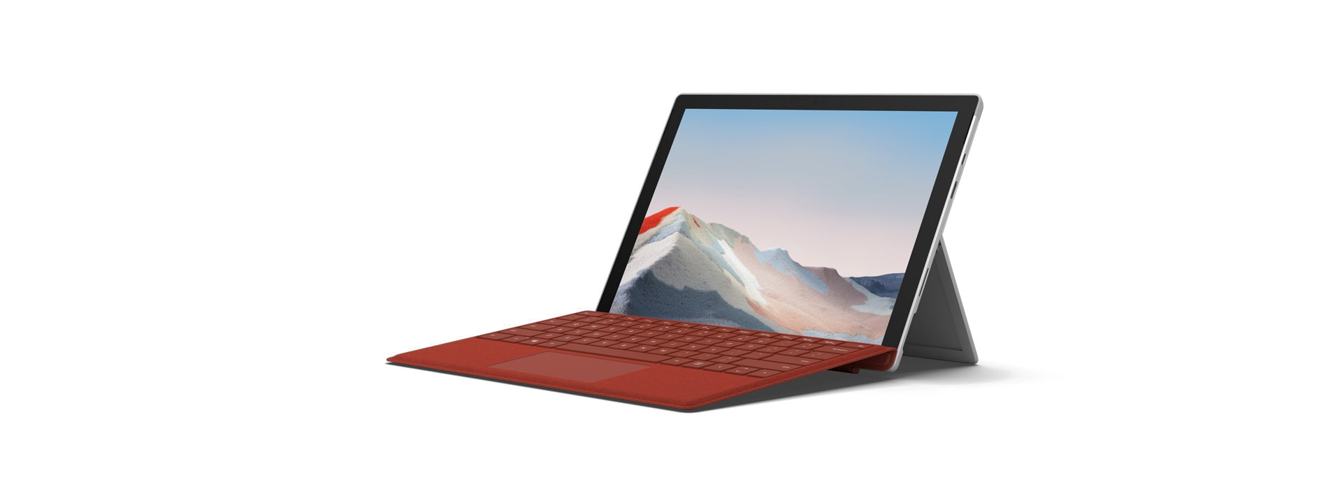 Surface Pro 7+ με Surface Pro Signature Type Cover