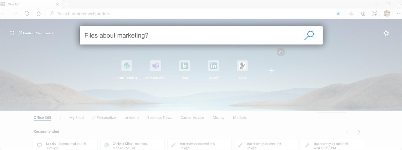 Captura de ecrã de uma página do browser Edge a apresentar resultados de uma pesquisa profissional