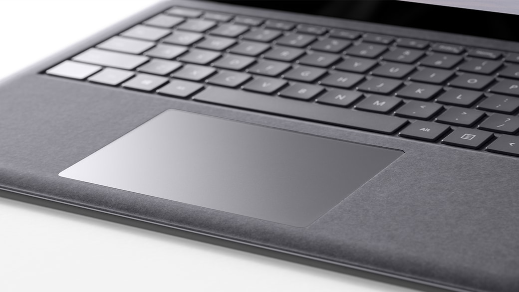 Close-up view of Surface Laptop 4 for Business keyboard and trackpad.