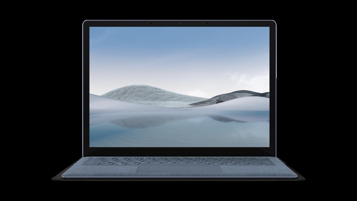 アイスブルー Surface Laptop 4 の正面図