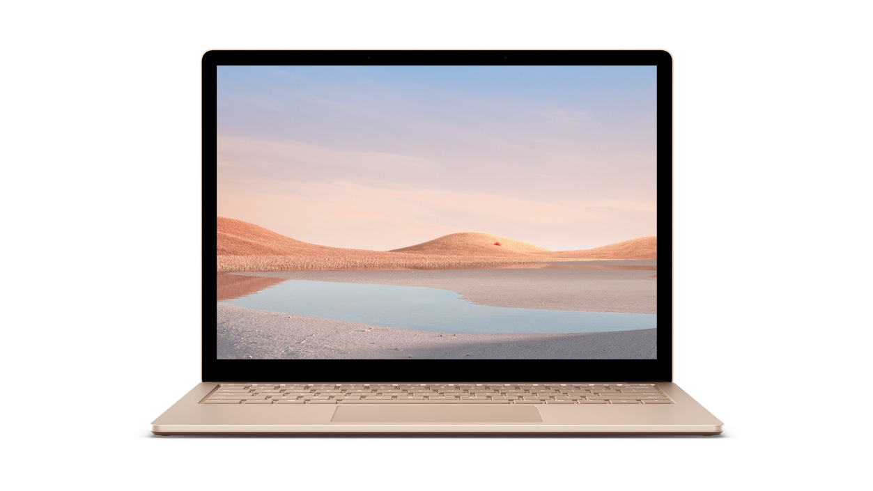 Front view of Surface Laptop 4 in Sandstone
