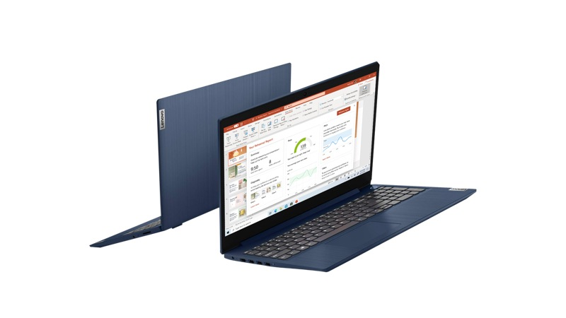 """Lenovo Ideapad 3 15"""" Laptop with a PowerPoint presentation on screen"""