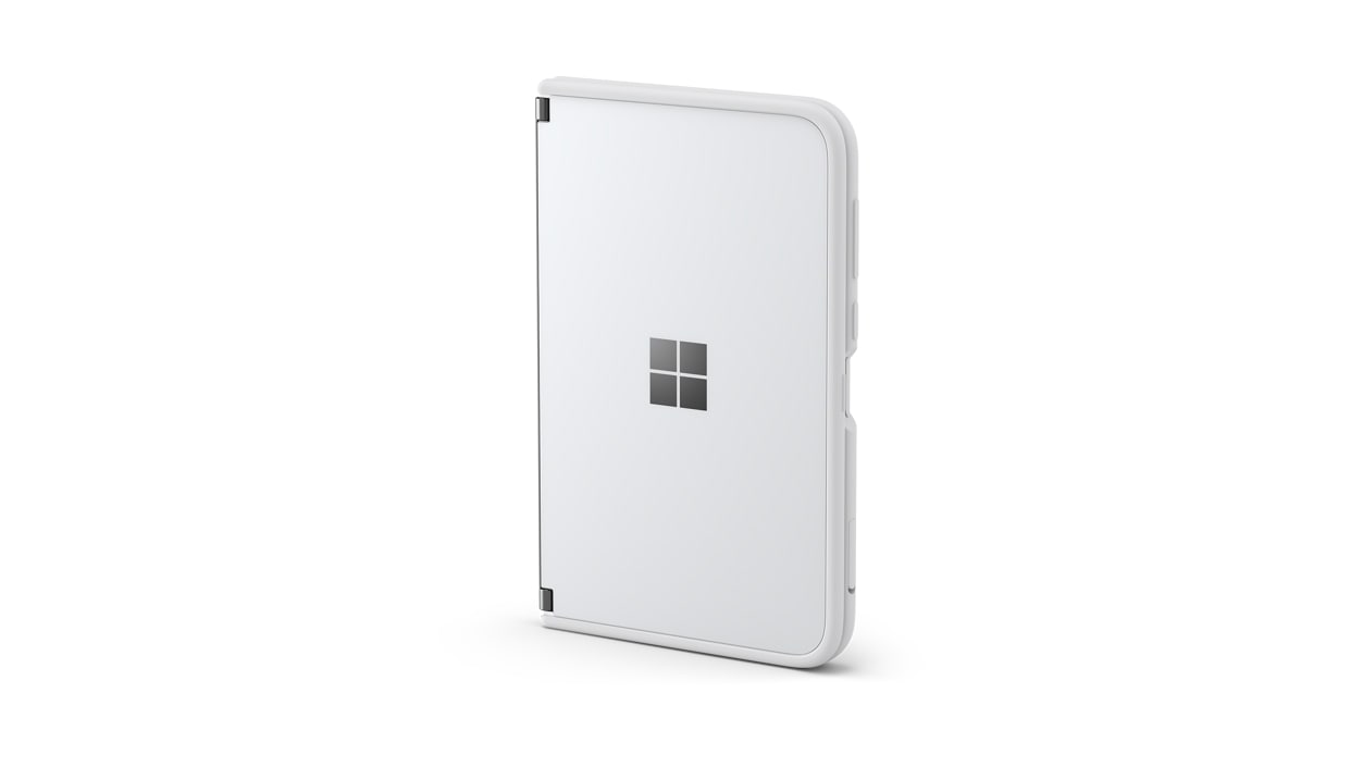 Surface Duo bumper in white.