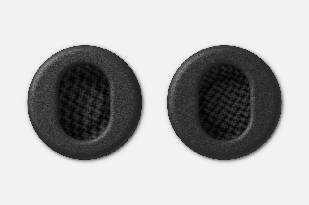 Close-up view of Surface Surface Headphones+ earcups.