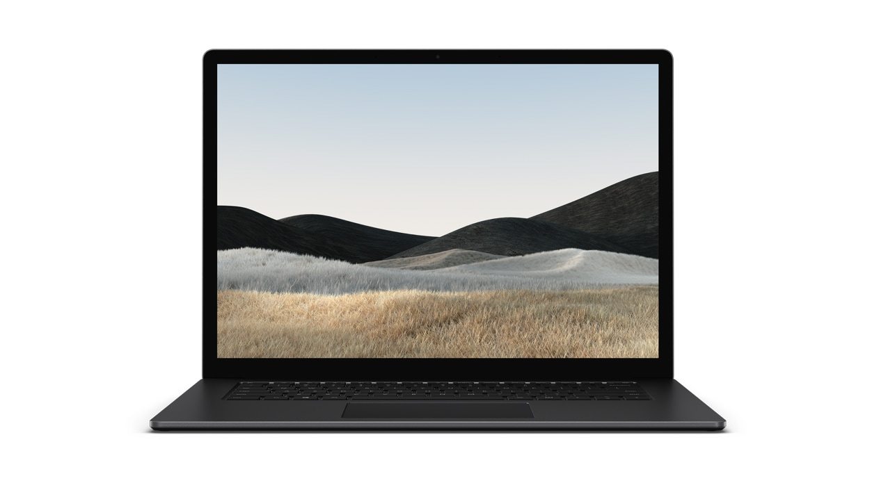 Front view of Surface Laptop 4 in matte Black