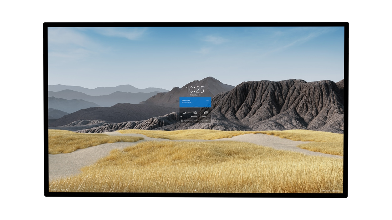 Front view of a Surface HUB 2S 85'' device.