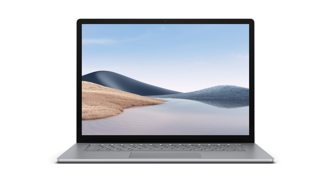 Front view of Surface Laptop 4 in Platinum