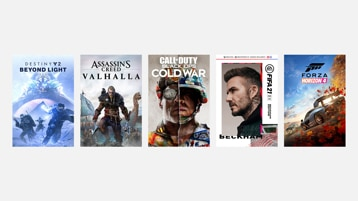 COD Black Ops: Cold War, Assassins Creed Valhalla, FIFA 21, Destiny 2: Beyond Light, en Forza Horizon 4