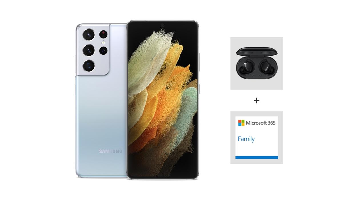 Samsung Galaxy S21 Ultra 5G (Unlocked) - Silver.