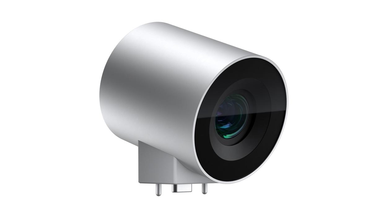 Angle view of a Surface HUB 2 camera.