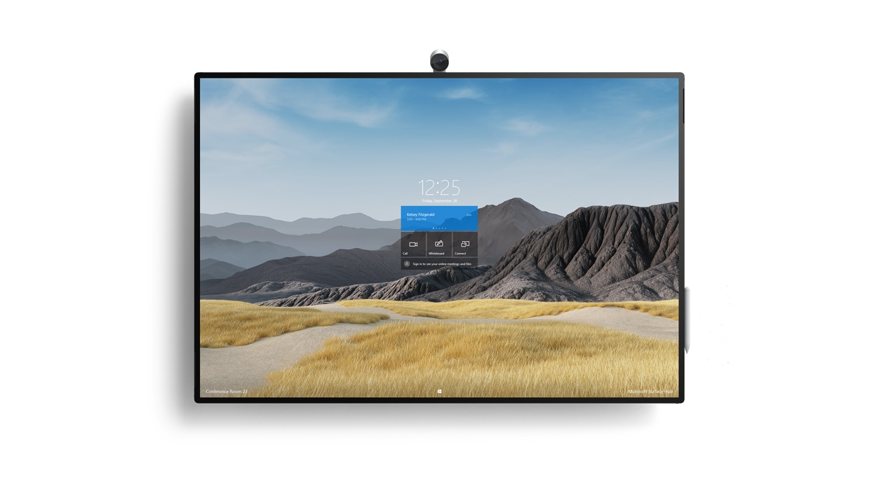 Front view of a Surface HUB 2S 50'' device.
