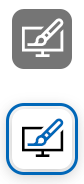 Brush and monitor icon