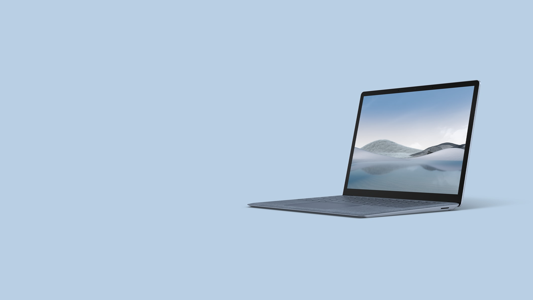 Surface Laptop 4 for Business in Ice Blue.