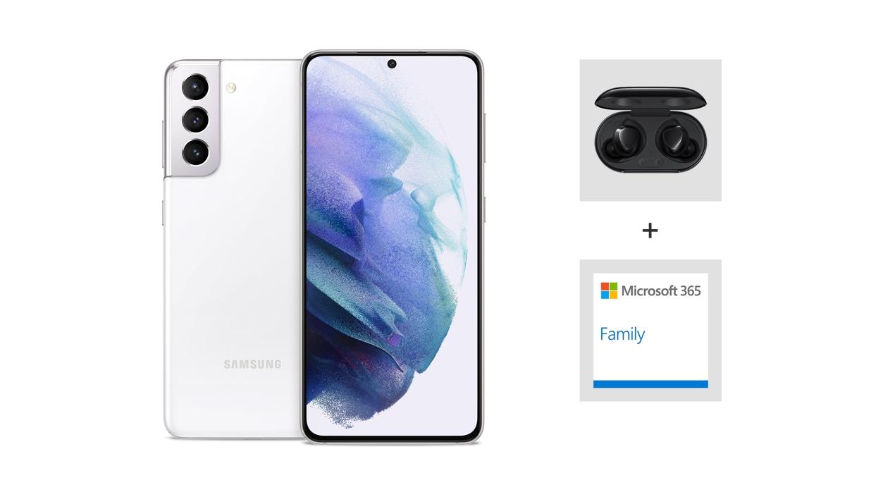 Samsung Galaxy S21 5G (Unlocked) - White.