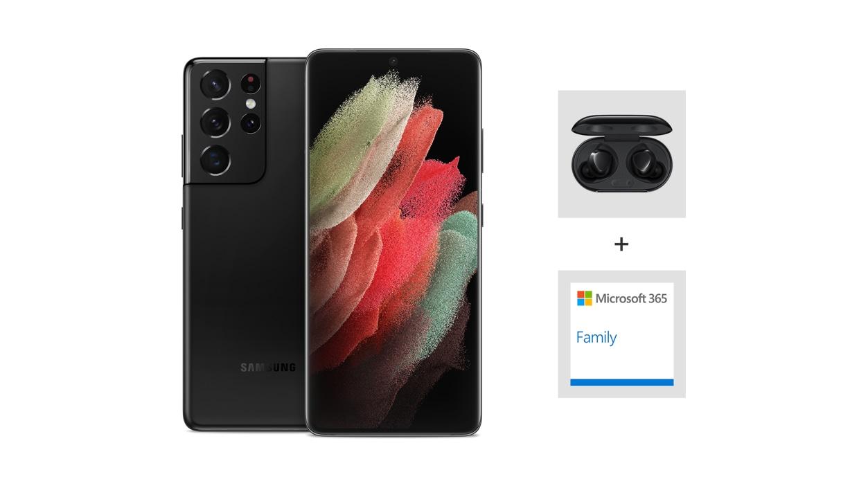 Samsung Galaxy S21 Ultra 5G (Unlocked) - Black.