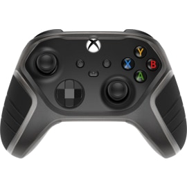 An Xbox controller featuring the Otterbox Easy Grip Controller Shell