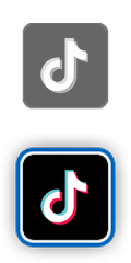 Logos de l'application TikTok.