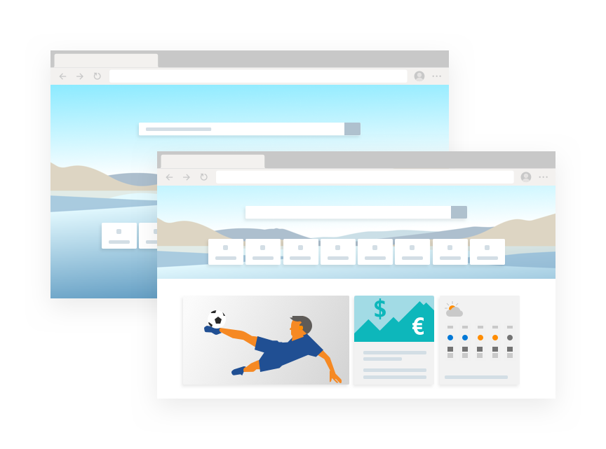 Illustration montrant les thèmes dans MicrosoftEdge