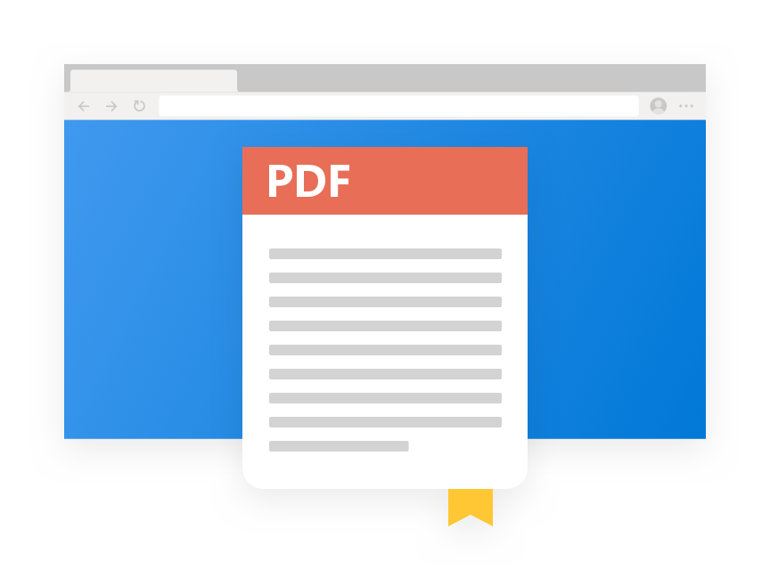 Illustration of Microsoft Edge PDF window