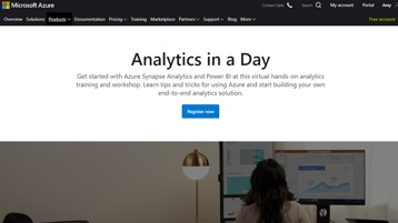 Analytics in a Day registration page.