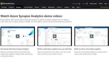 The Azure Synapse Analytics demo video webpage.