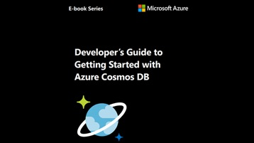 The e-book titled Developer's Guide to Getting Started with Azure Cosmos DB.