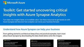 The toolkit to getting started with Azure Synapse Analytics.