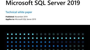 The technical whitepaper titled Microsoft S Q L Server 2019.