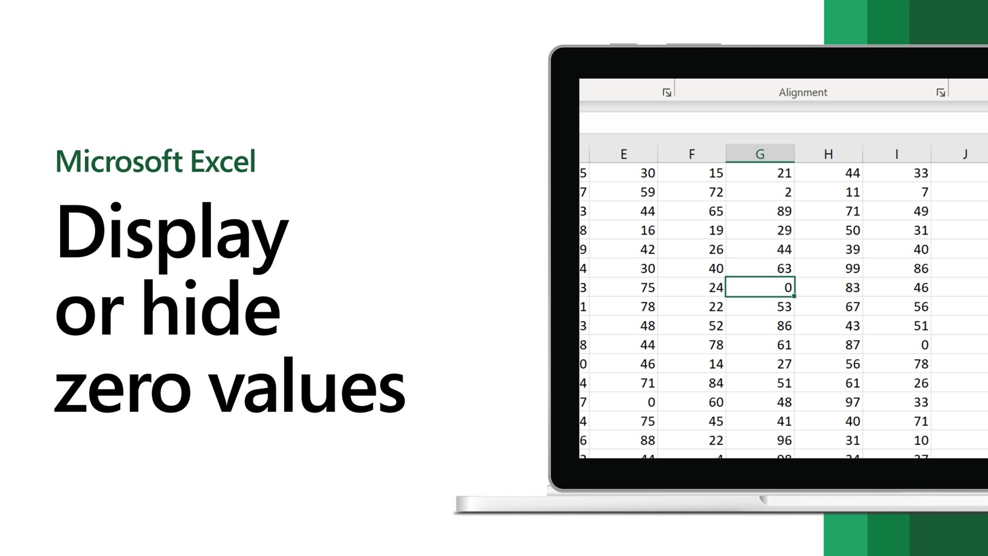 Display or hid zero values