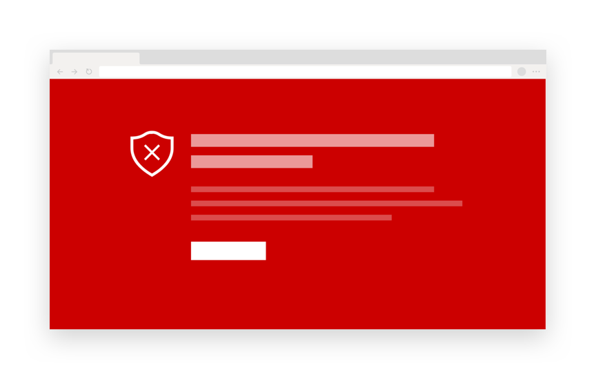 Red browser security window