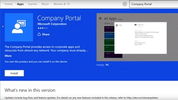 Enroll your mobile device in Microsoft Intune for corporate access