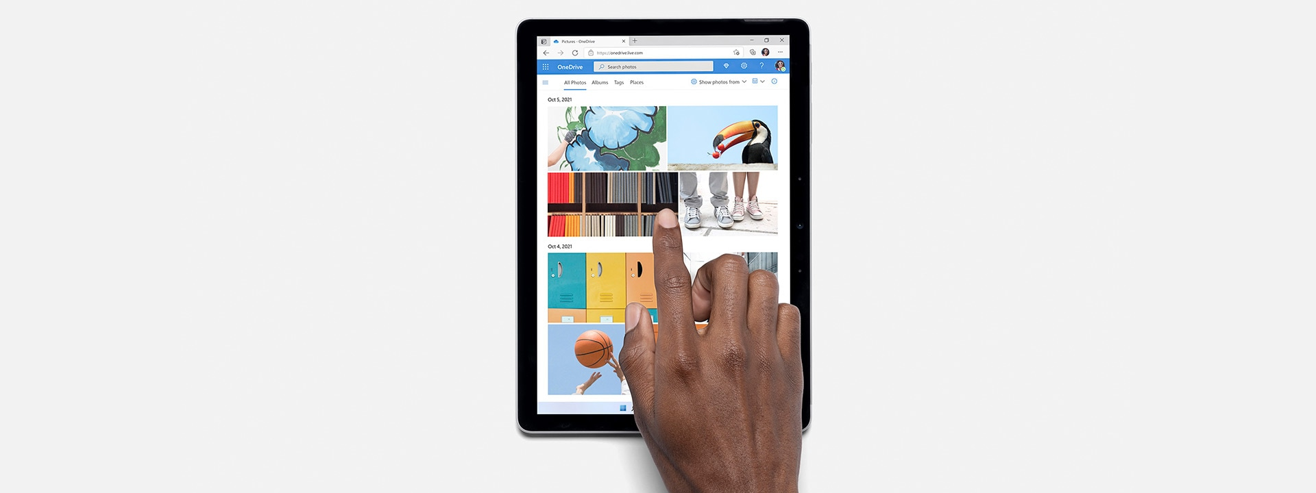 SurfaceGo3 affichant OneDrive.
