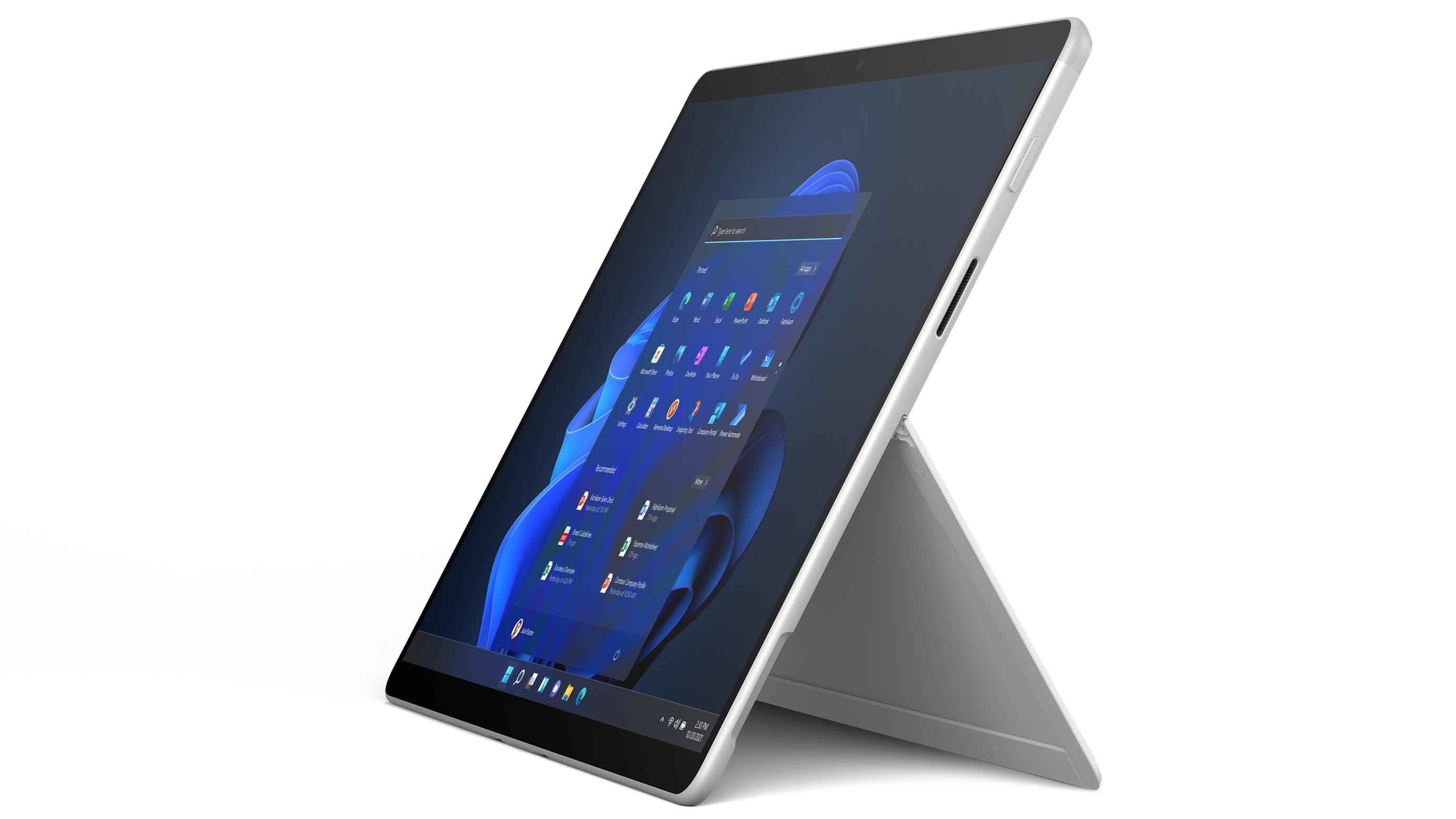 Surface Pro X for Business - Platinum, Microsoft SQ® 2 - LTE, 16GB RAM, 256GB SSD Help your customers stay one step ahead. Surface Pro X for Business makes quick work of every task with optional Gigabit-speed LTE,¹ tablet-to-laptop flexibility and built-in security.