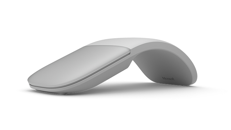 Light Gray Surface Arc Mouse.
