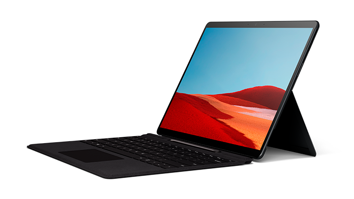 render of Surface Pro X with Surface Pro X Signature Keyboard with Slim Pen