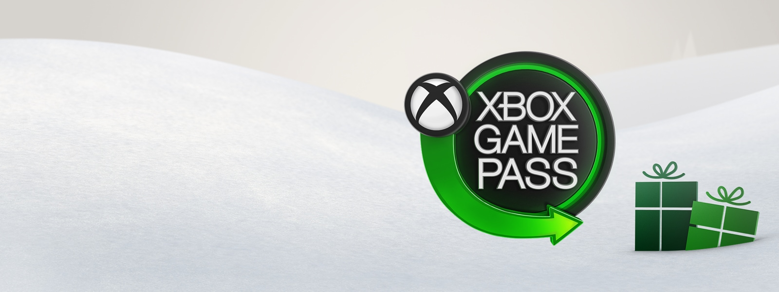 Xbox Game Pass logo with presents