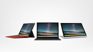 Surface Pro 7, Surface Laptop3 and Surface Book 2