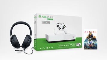 Xbox One S All-Digital, Razer Kraken X headset and free game