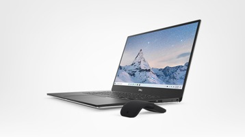 Dell XPS 15 with Microsoft Arc Mouse (Black)
