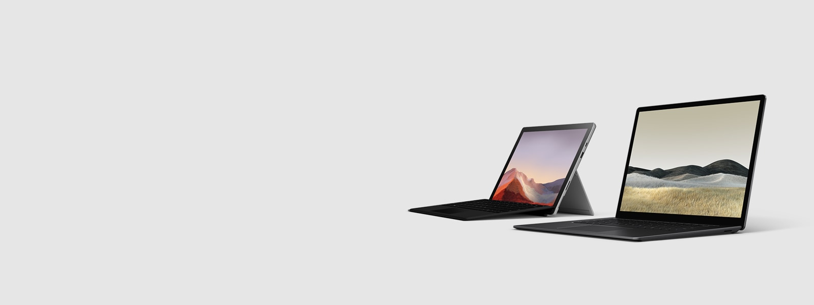 Surface Pro 7 and Surface Laptop 3
