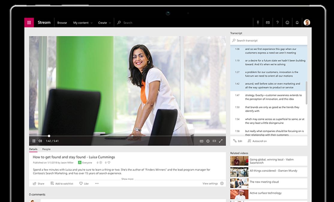 Microsoft Stream, Enterprise Video Streaming, Live Streaming
