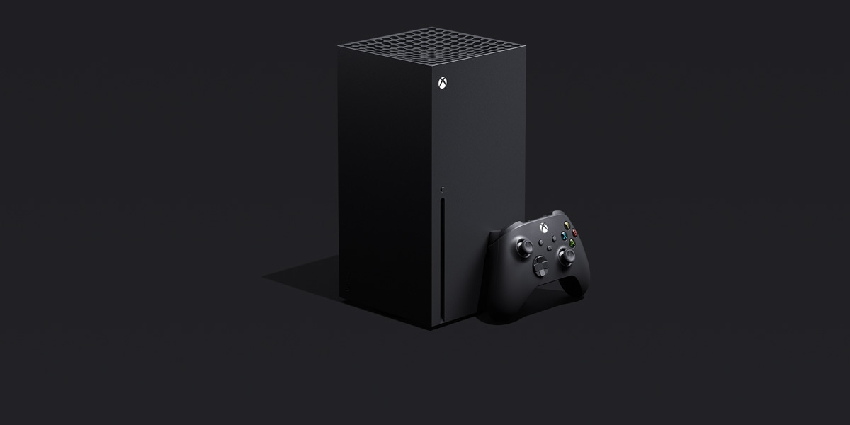 An Xbox Series X console and an Xbox controller.