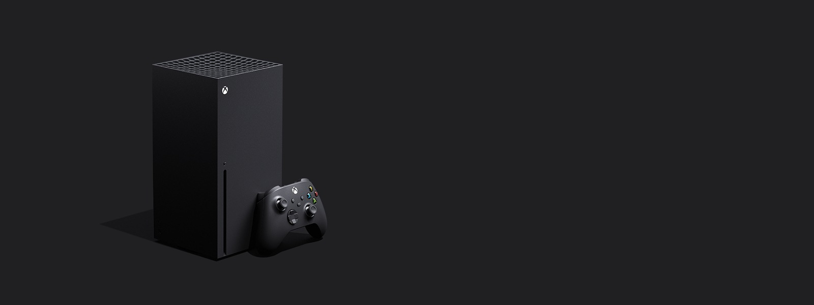 Xbox Series X console and controller.