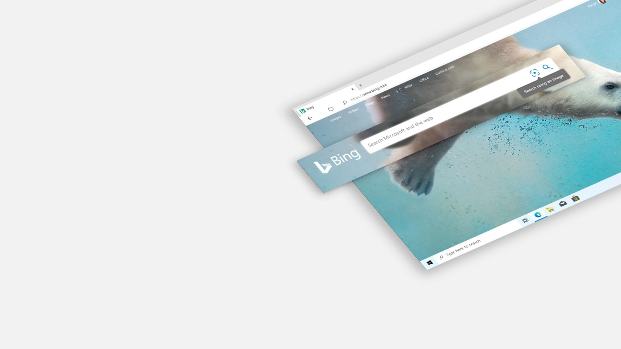 Startseite der Bing-Suche