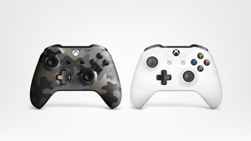 Two Xbox One controllers.