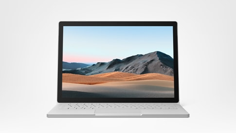 Surface Book 3 for Business showing screen and keyboard in laptop mode