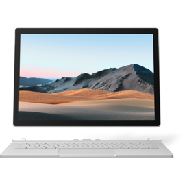 Screen and keyboard of Surface Book 3 for Business