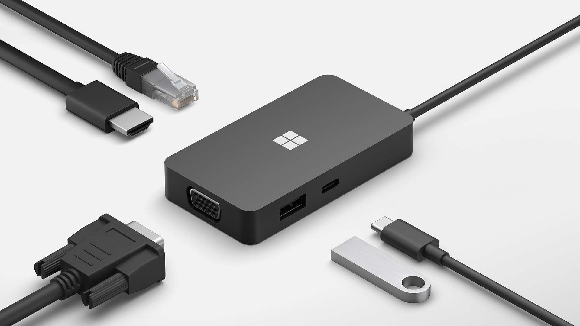 Microsoft Surface 127W Power Supply for Business  and various cables