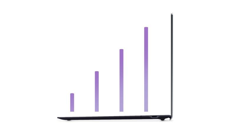 Samsung Book S - Verizon Laptop with connectivity bars